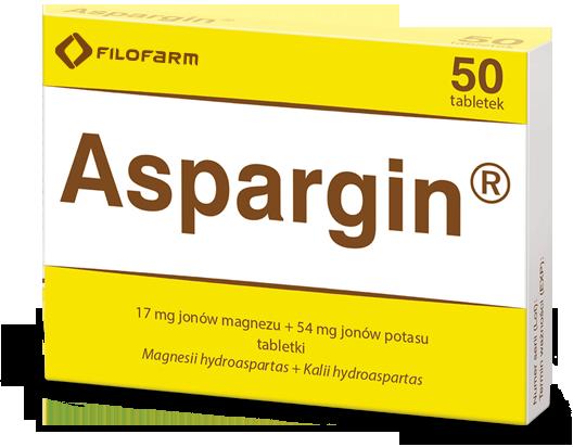 Pudełko Aspargin 50 tabletek